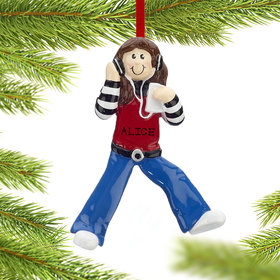 Personalized Chillin' Out Girl Christmas Ornament