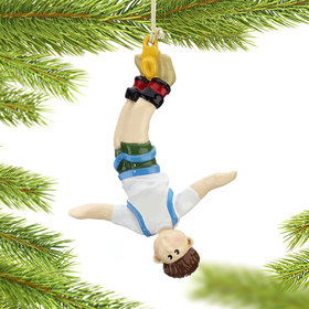 Bungee Jumper Male Christmas Ornament