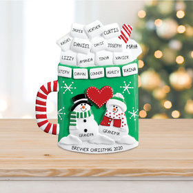 Personalized Mug of Cocoa with Marshmallows Table Top Christmas Ornament