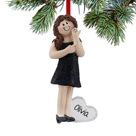 Personalized I'm Engaged Christmas Ornament