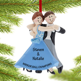 Personalized Ballroom Dancing Couple Christmas Ornament