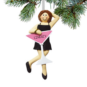 Personalized Girls Night Out (Single) Christmas Ornament