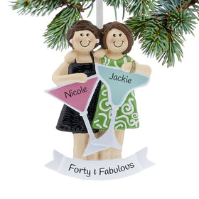 Personalized Girls Night Out (Two Friends) Christmas Ornament