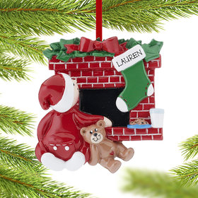 Personalized Waiting For Santa Christmas Ornament