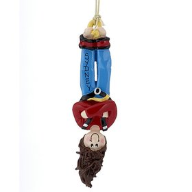 Personalized Bungee Jumper Female Christmas Ornament