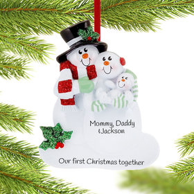 Personalized New Family 1st Christmas Ornament