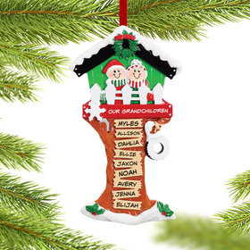 Personalized Christmas Tree House 9 Names Christmas Ornament