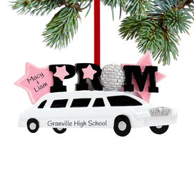 Personalized Prom Limo Christmas Ornament