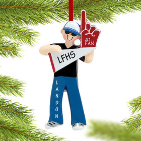 Personalized #1 Fan Christmas Ornament
