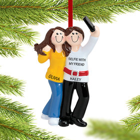 Personalized Selfie Friends Christmas Ornament