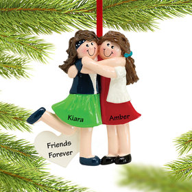 Personalized Two Friends Christmas Ornament