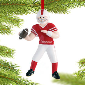 Personalized Football Jock Christmas Ornament