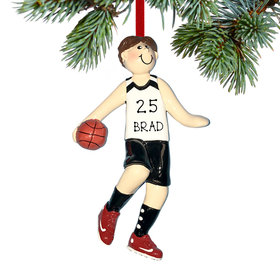 Personalized Basketball Boy Christmas Ornament