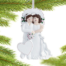 Wedding Couple (Women) Christmas Ornament