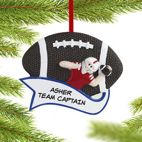 Personalized Football Male Christmas Ornament