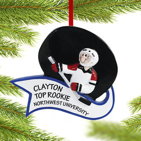Personalized Hockey Male or Female Christmas Ornament