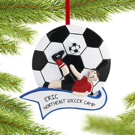 Personalized Soccer Male Christmas Ornament