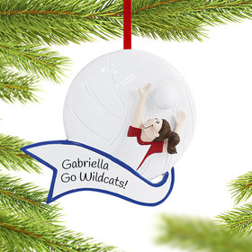 Personalized Volleyball Player Female Christmas Ornament