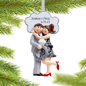 Personalized She Said Yes! Christmas Ornament