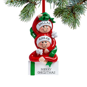 Personalized Present Couple Christmas Ornament