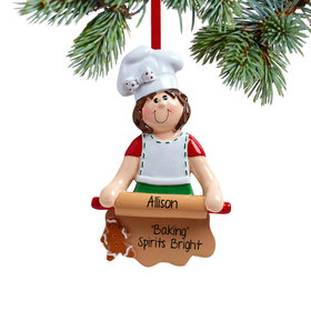 Personalized Loves to Bake Christmas Ornament
