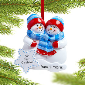 Personalized Snow Buddies Christmas Ornament