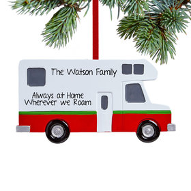 Personalized Motor Home Christmas Ornament