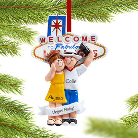 Personalized Las Vegas Couple Christmas Ornament