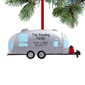Personalized Airstream Trailer/Camper Christmas Ornament