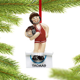Personalized Wrestler with Opponent in Headlock Christmas Ornament