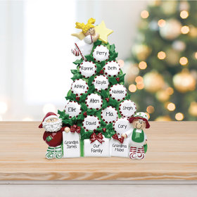 Personalized Peppermint Tree Up To 15 Table Decoration Christmas Ornament