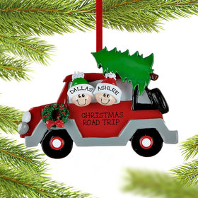 Personalized Car Family 2 Christmas Ornament