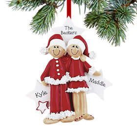 Personalized Santa Couple Christmas Ornament