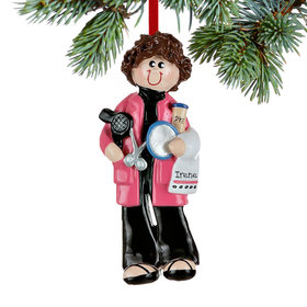 Personalized Hairdresser at the Salon Christmas Ornament