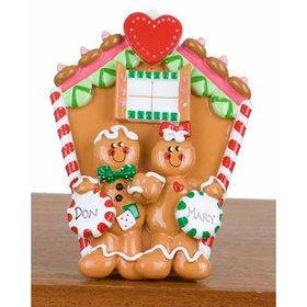 Personalized Couple Gingerbread House Christmas Ornament