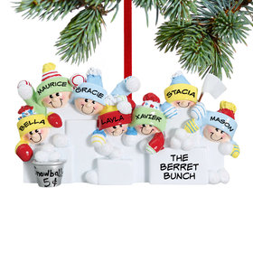 Personalized Snowball Fight 7 Christmas Ornament