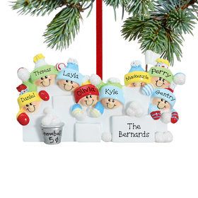 Personalized Snowball Fight 8 Christmas Ornament