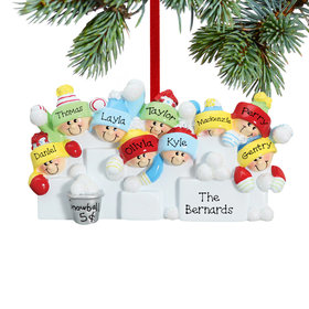 Personalized Snowball Fight 9 Christmas Ornament