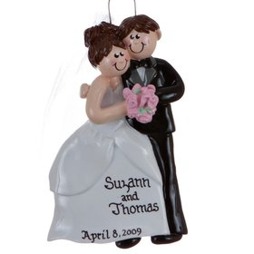 Personalized Wedding Couple Christmas Ornament