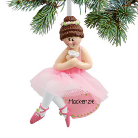 Personalized Ballet Dancer Christmas Ornament