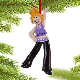 Personalized Jazz or Hip Hop Dancer Christmas Ornament