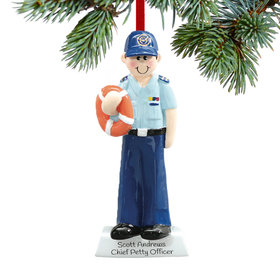 Personalized Coast Guard Service Man Christmas Ornament