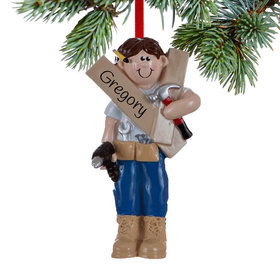 Personalized Handyman or Construction Christmas Ornament