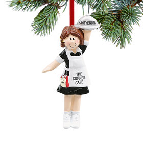 Personalized Waitress Christmas Ornament
