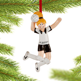 Personalized Volleyball Girl Spiking the Ball Christmas Ornament