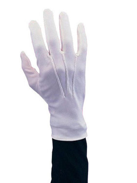 White Santa Gloves