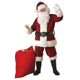 Crimson Regal Plush Santa Suit - Adult