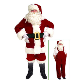 Santa Suit with Overalls - Adult