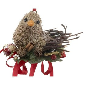 Handmade Woodland Bird Christmas Ornament