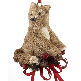 Handmade Woodland Fox Christmas Ornament